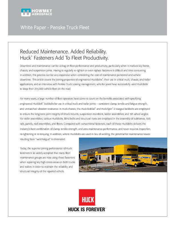 Truck Fleet and Trailer White Paper