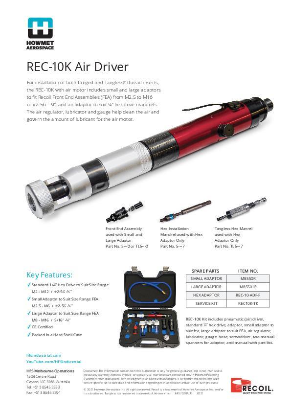 REC-10K Flyer AUS