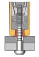 3. Tool swages collar, increasing clamp