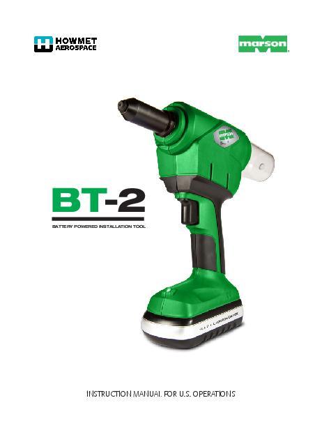 Howmet BT-2 Tool Manual