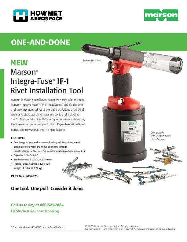 Marson IF-1 Rivet Installation Tool Flyer