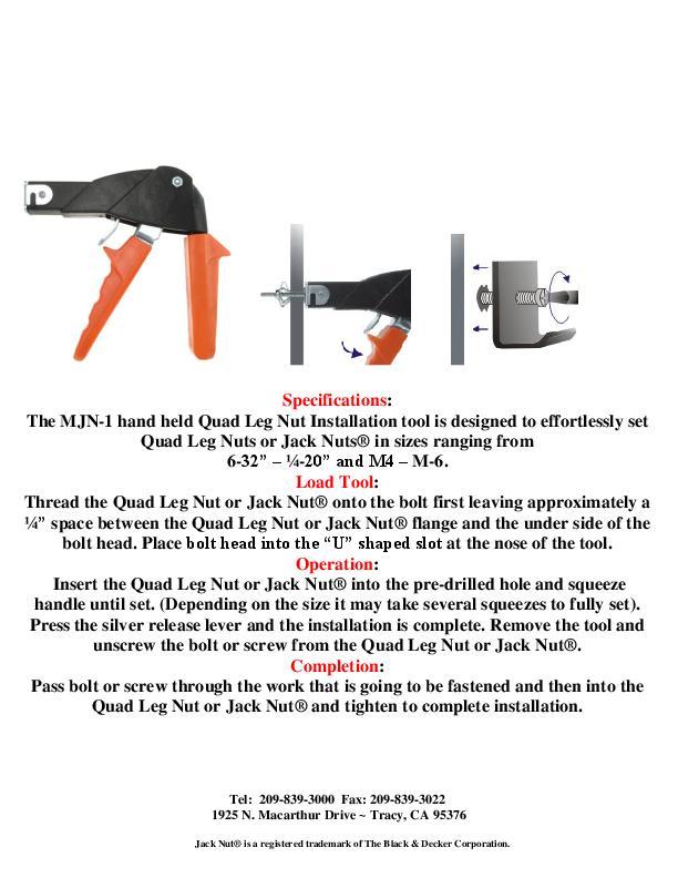 Howmet MJN-1 39042 manual