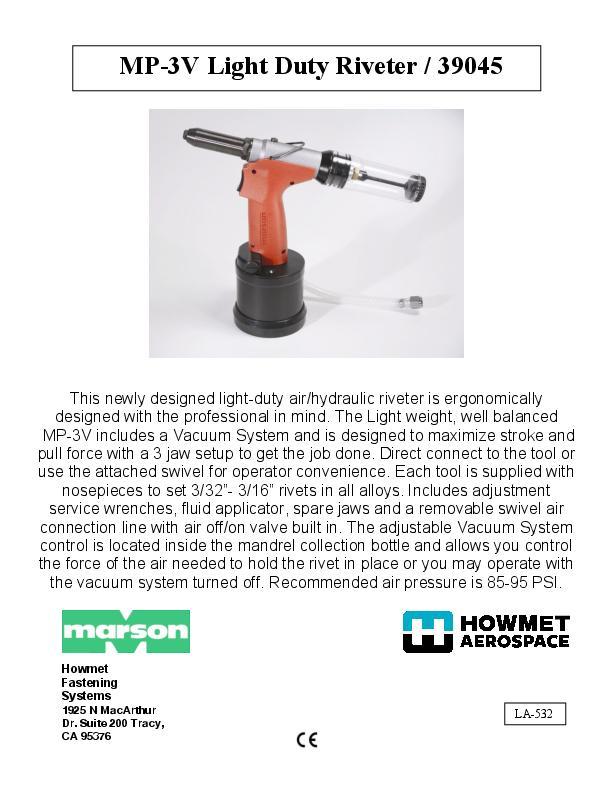 Howmet MP-3V 39045 Manual