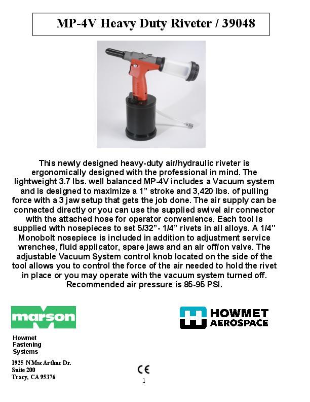 Howmet MP-4V 39048 Manual