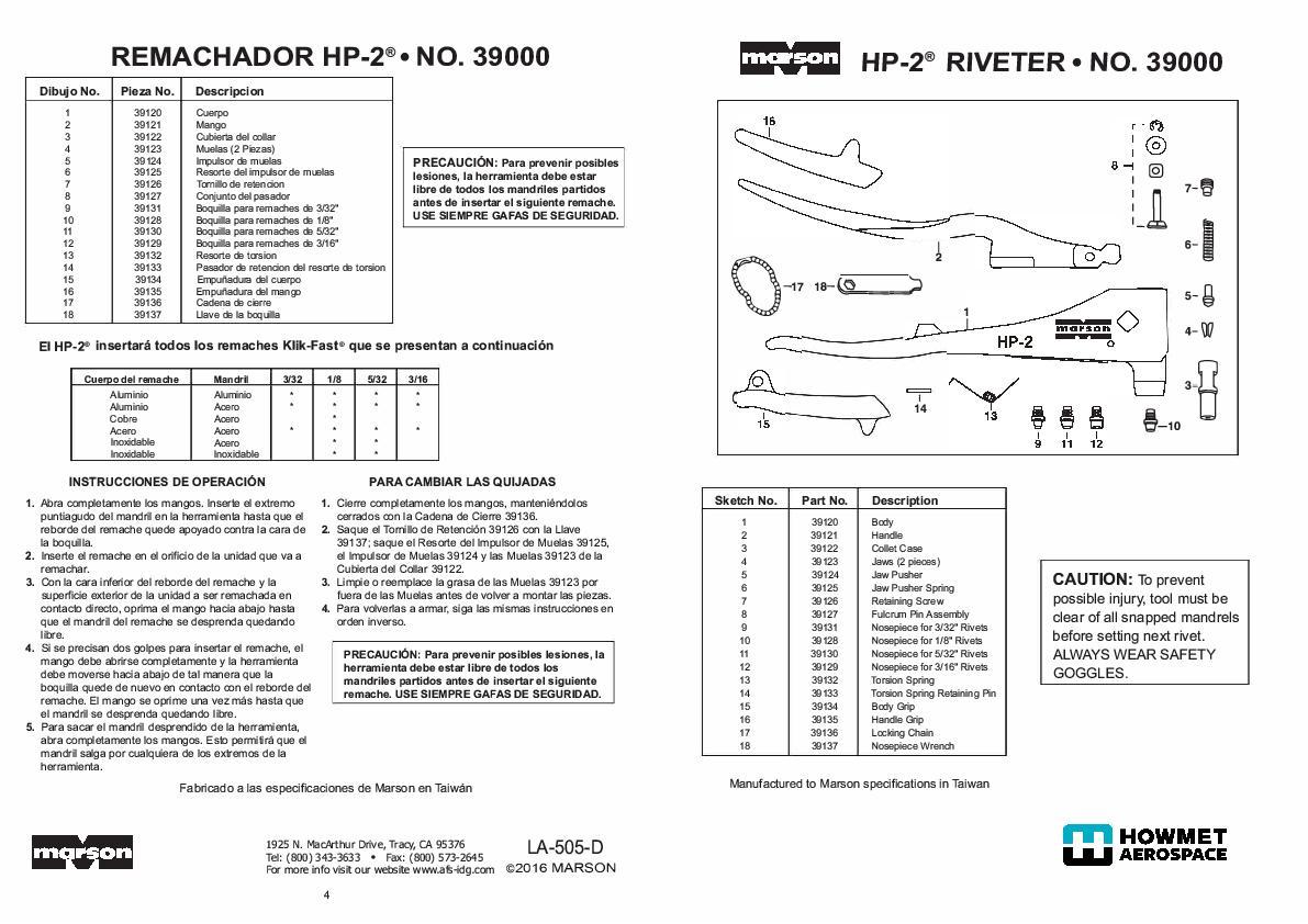 Howmt HP-2 39000 manual