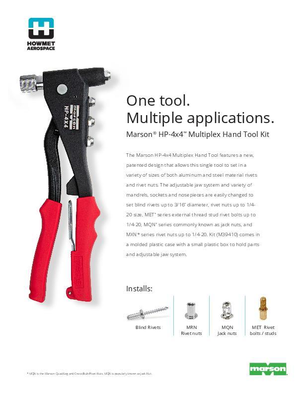 HP-4x4 Manual Rivet and Rivet Nut Tool