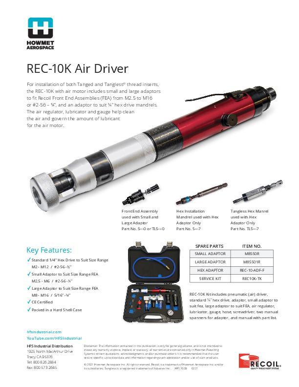 REC-10 Pneumatic Tool Flyer