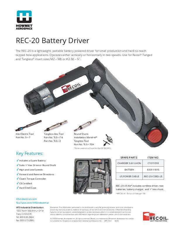 REC-20 flyer